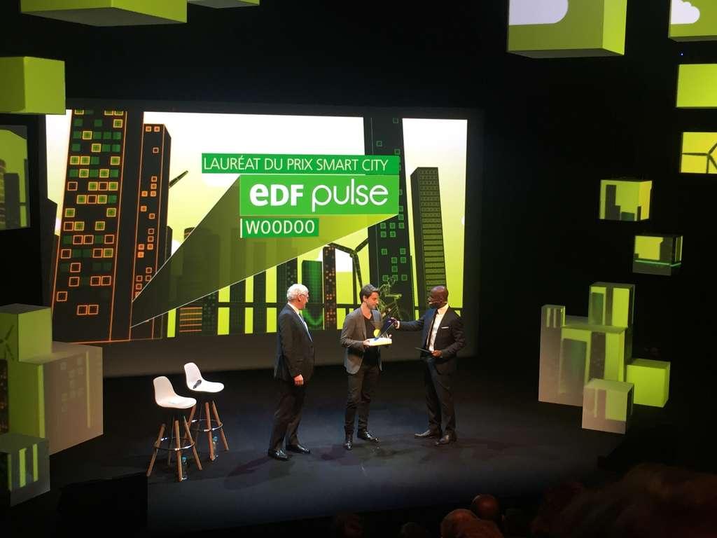 Timothée Boitouzet reçoit le prix EDF Pulse 2017. En 2016, il avait obtenu le prix des innovateurs de moins de 35 ans du MIT. © EDF Pulse