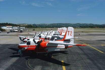 Pour devenir pilote de bombardier d'eau, la sélection est rude. © Tracker-France - Tous droits de reproduction interdits