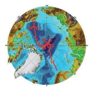 Le parcours prévu de l'expédition au-dessus de l'Arctique. Crédit: Total Pole Airship.