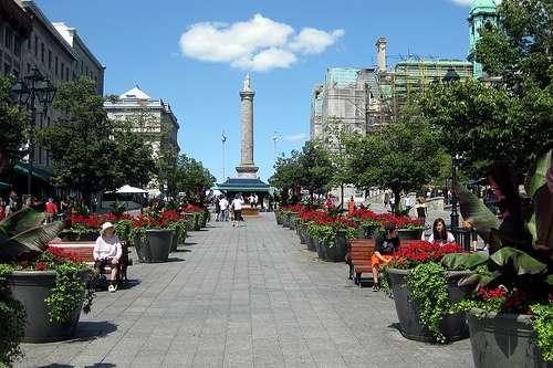 La place Jacques Cartier fait partie des lieux typiques de Montréal. © Wallyg, Flickr, CC by-nc-sa 2.0