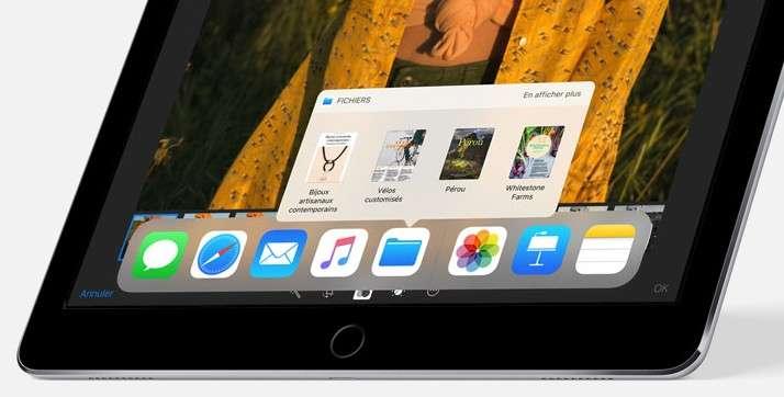 Le Dock de l'iPad gère le multitâche et le glisser-déposer. © Apple