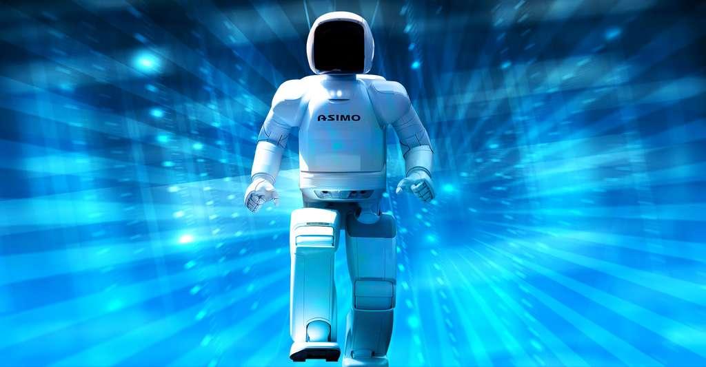 Le robot humanoïde Asimo (Advanced Step in Innovative MObility), conçu chez Honda, semble ainsi nommé en hommage à l'écrivain Isaac Asimov. © Vanillase, CC by-sa 3.0