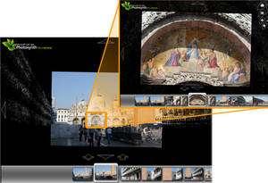 Cliquez sur une zone de l'image marquée d'un cadre et le détail s'agrandira progressivement. Mais ce n'est pas un coup de zoom : la photo vue de loin et le détail sont bien deux prises de vue différentes. Crédit : Microsoft.