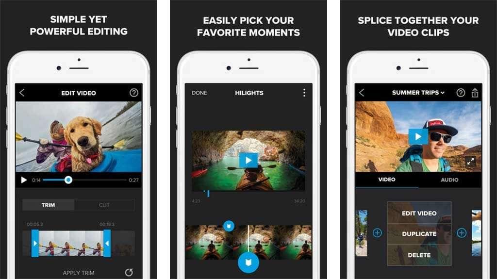 Splice est un éditeur vidéo simple et optimisé pour une utilisation sur mobile. © Bending Spoons S.p.A.