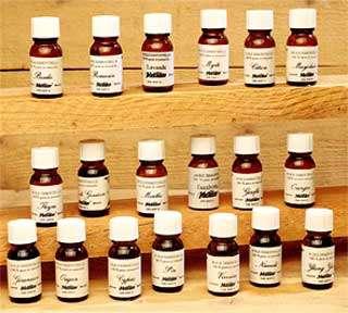 Échantillonnage d'extraits naturels.