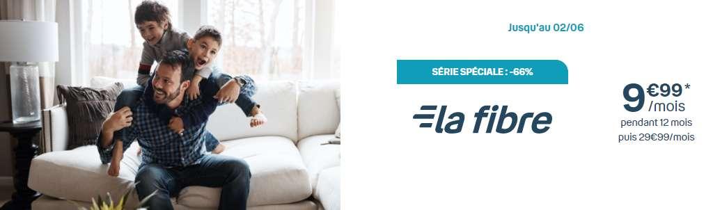 Payez 9,99€ / mois et profitez de la vitessse de la fibre optique © Bouygues Télécom