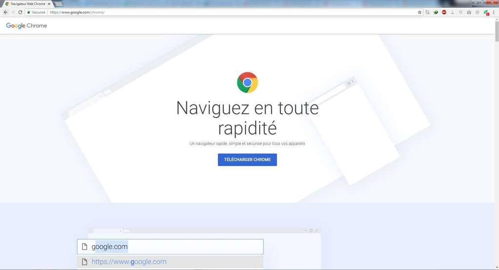 Google Chrome est un navigateur utilisé par plus de 50 % des internautes. © Google