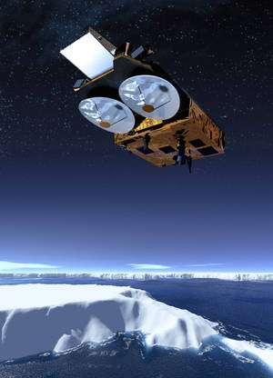 CryoSat-2 est le premier satellite d'observation de la Terre spécifiquement dédié à l'observation des glaces. © Astrium