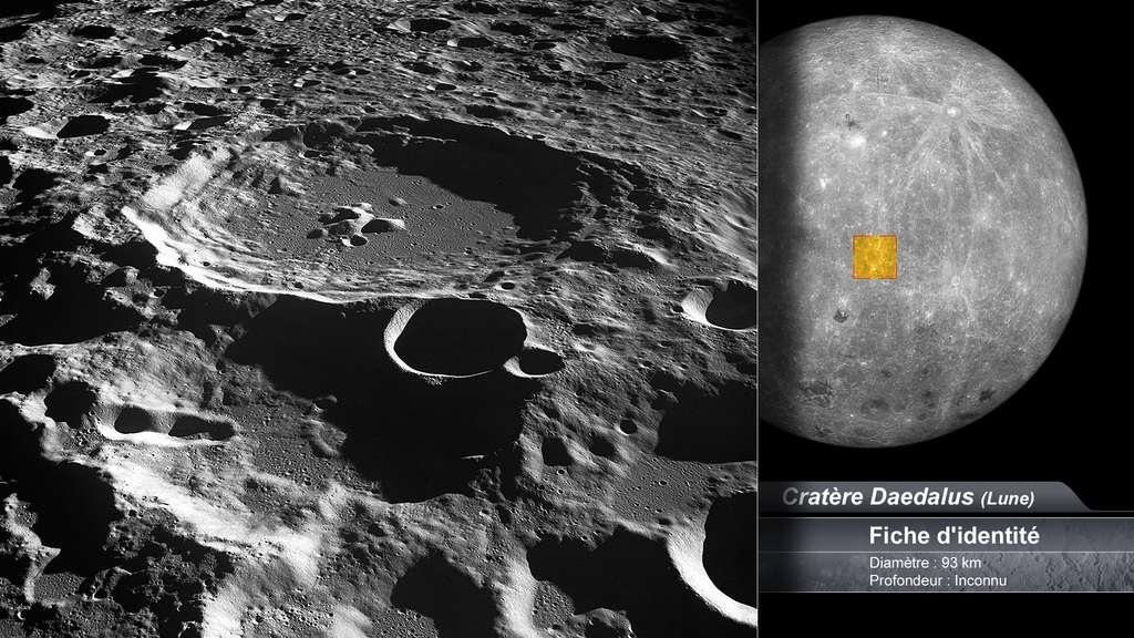Le cratère Daedalus sur la Lune
