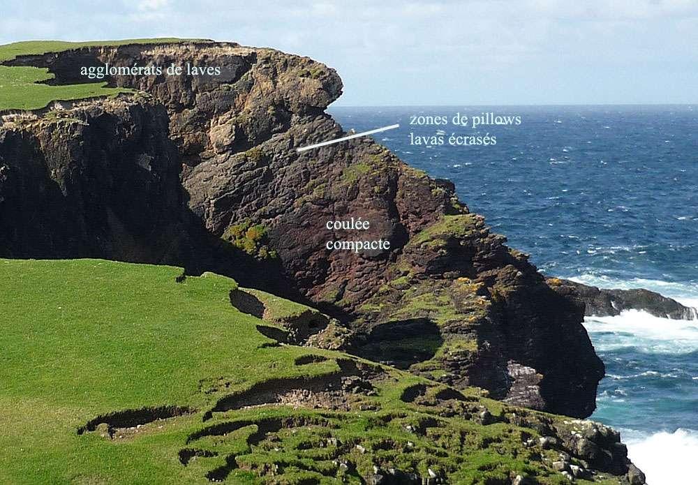 Le site de Calders Geo, à Eshaness, sur l'île Shetland (Northmavine). © Claire Konig, DR