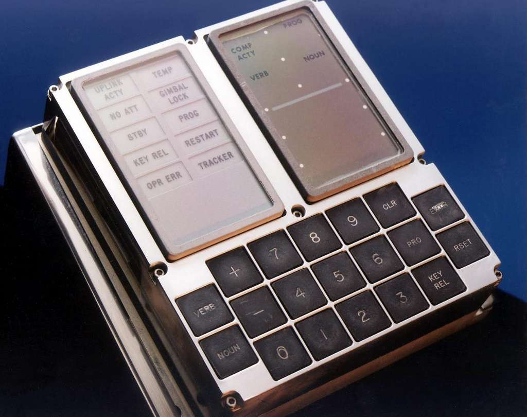 Voici le boîtier qui permettait aux astronautes de communiquer avec l'ordinateur. © Nasa