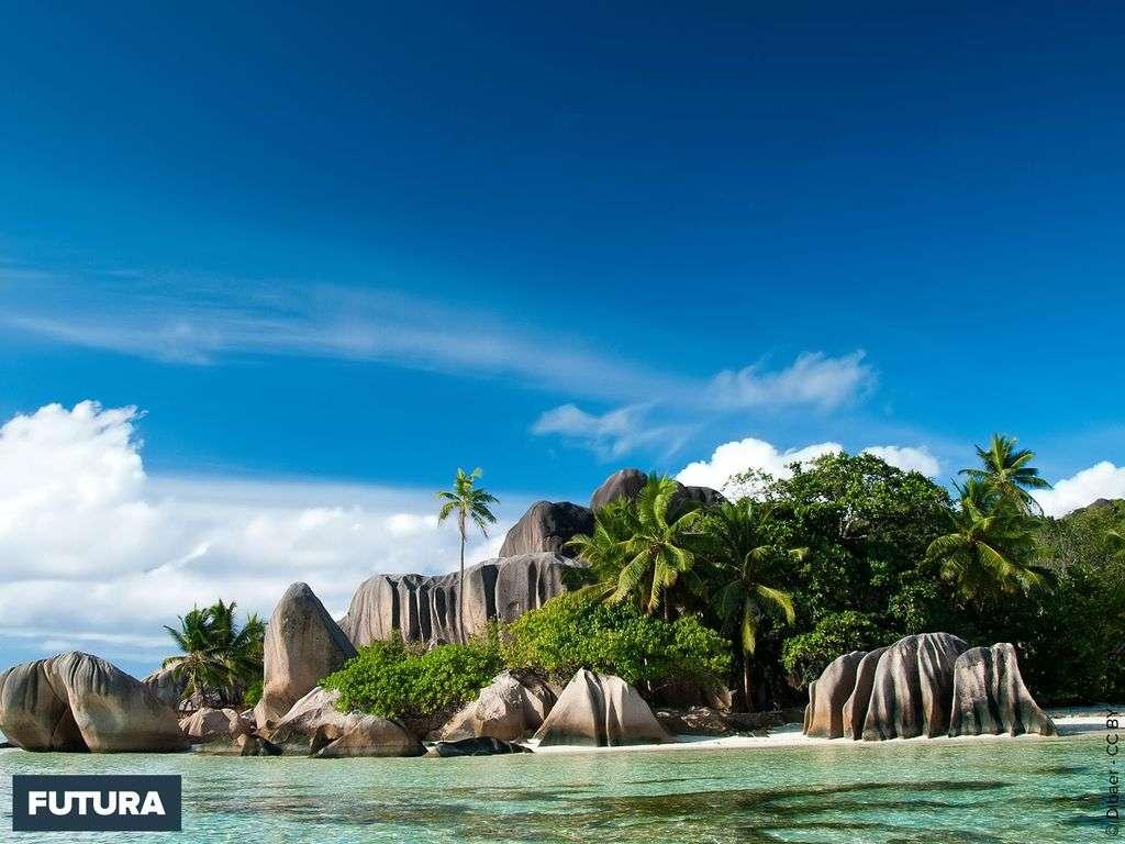 Seychelles Plage de la Source d'argent