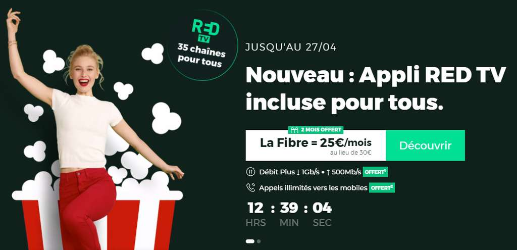 L'ADSL à 19€ / mois et la fibre à 25€ /mois © RED By SFR
