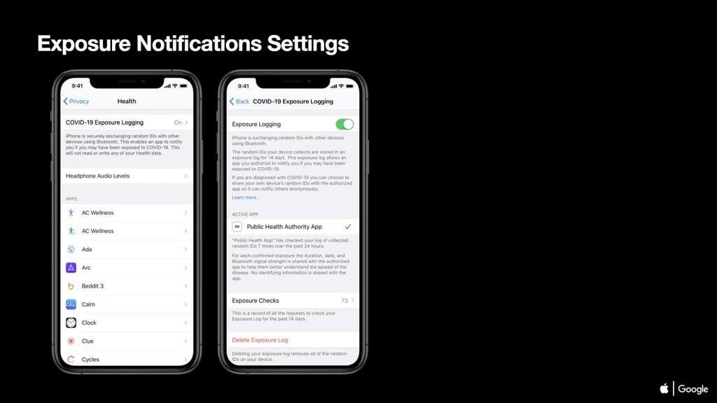 Ce sera à l'utilisateur d'activer les notifications de l'application © Apple / Google