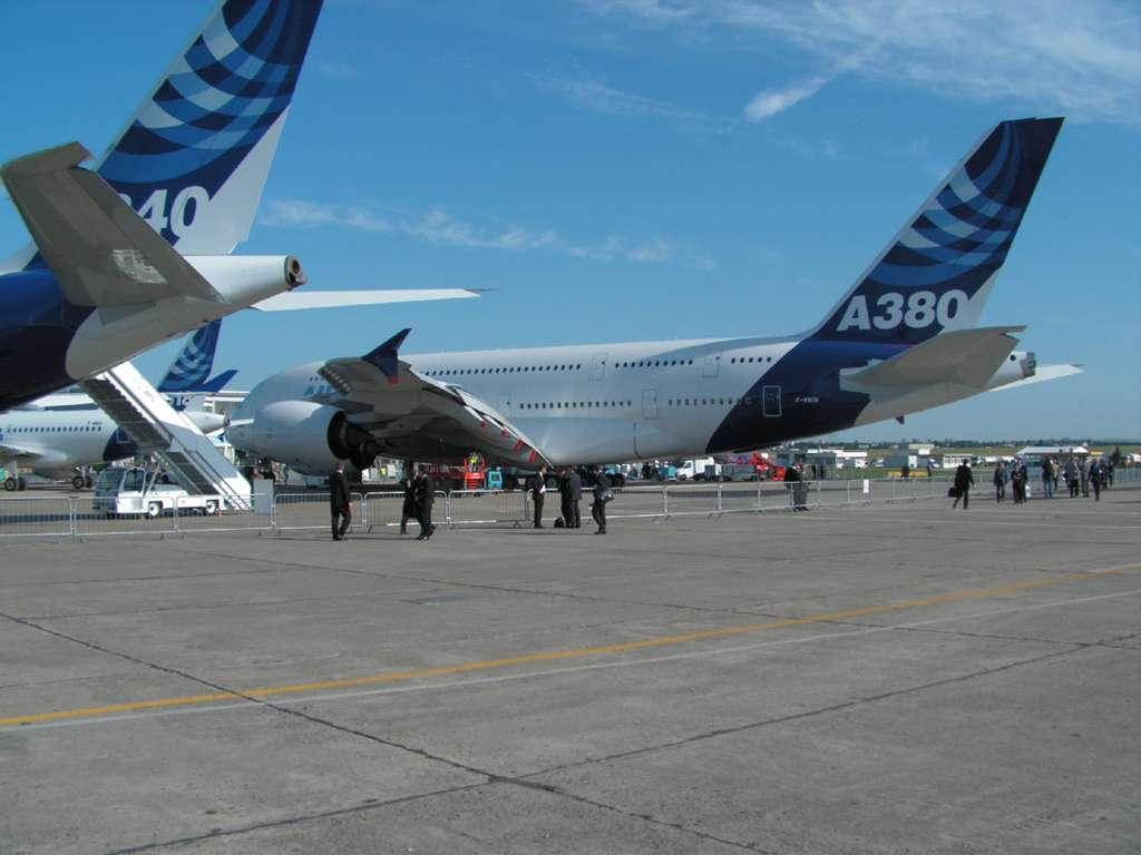 A380 au sol - Les avions exposes au Salon du Bourget
