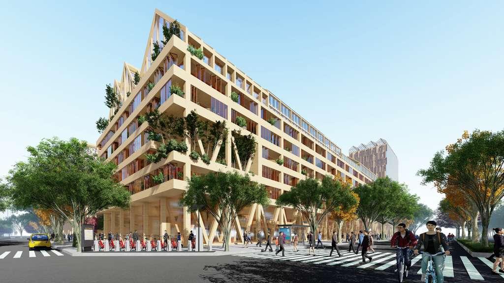La ville met à disposition des vélos en libre-service et un réseau de transport en commun. © Guallart architects