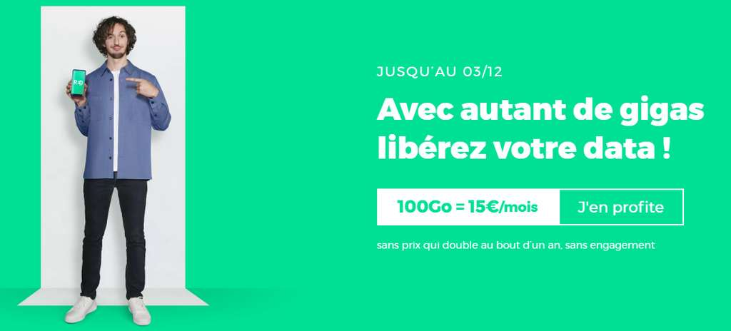 Forfait 100 Go en promo © RED By SFR