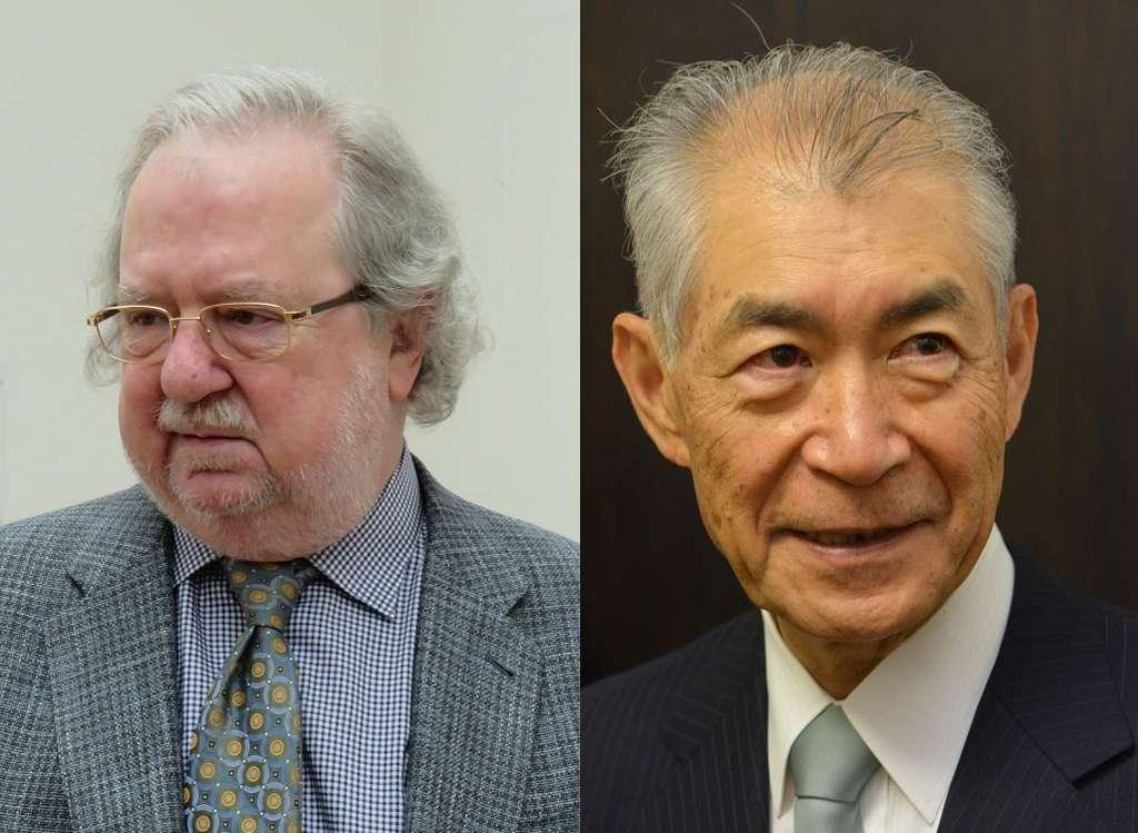 Les chercheurs en immunologie James Allison, à gauche, et Tasuku Honjo, à droite, ont reçu le prix Nobel de médecine 2018. © Wikipédia, Gerbil, CC By-SA 3.0 / CC By 4.0