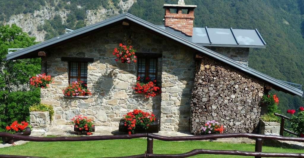 Maison en pierre en Savoie. © Hans, Domaine public