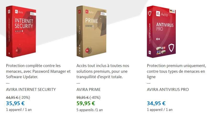 -40% sur l'antivirus Avira Prime © Avira 2020