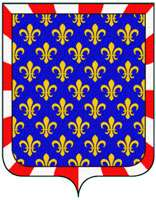 Montlouis-sur-Loire appartient à l'Indre-et-Loire, dont voici le blason. Il est d'ailleurs très proche du drapeau de la Touraine. © DR