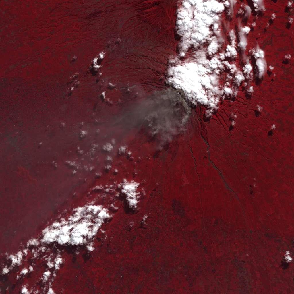 Le volcan Merapi vu par ASTER, le 6 juin 2006