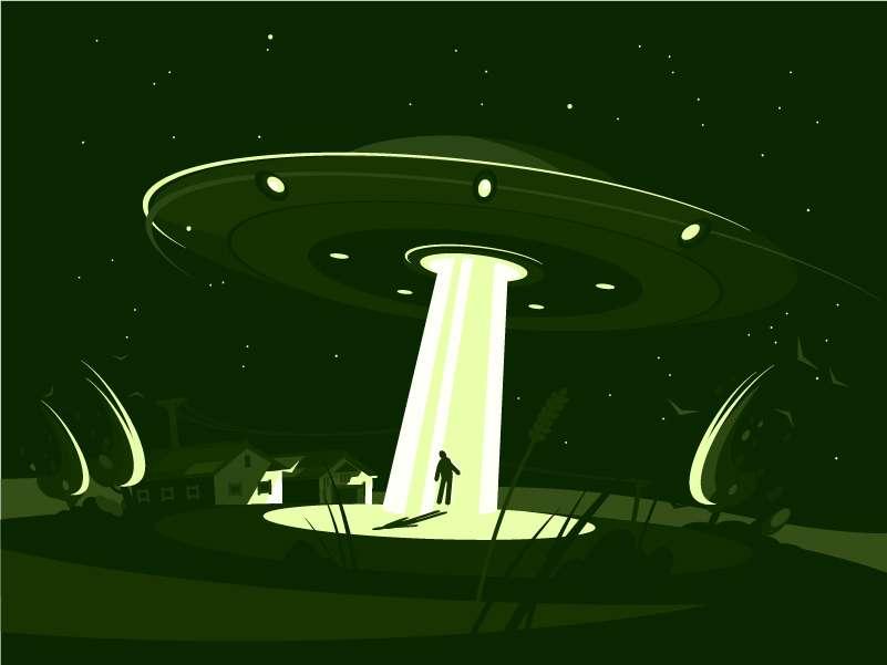 Arthur est déposé sur Terre par de serviables aliens. Il rentre enfin à la maison. © Kit8, Adobe Stock