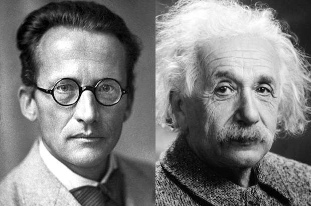 Erwin Schrödinger (à gauche) et Albert Einstein (à droite) ont vécu une amitié tumultueuse. © Nobel Foundation et Orren Jack Turner, Wikimedia Commons, DP