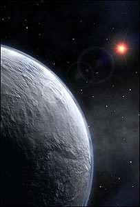 Découverte d'une exoplanète 13 fois plus massive que la Terre, et probablement couverte de glace (Crédits : ESO)