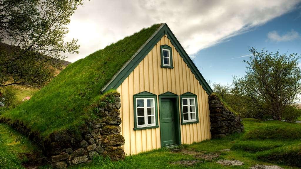 La maison de gazon en Islande