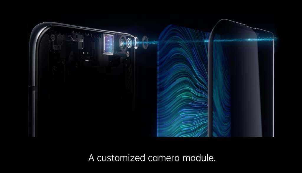 Pour cacher l'appareil photo sous l'écran, le fabricant propose une dalle dans un matériau où les pixels sont redessinés pour laisser passer la lumière © Oppo