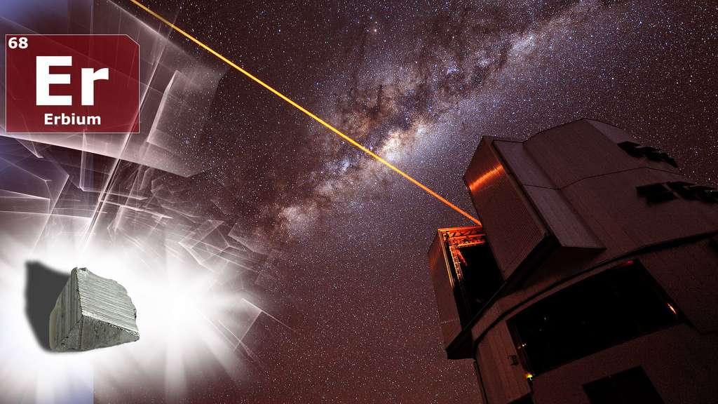 L'erbium, de symbole Er, utilisé dans les lasers