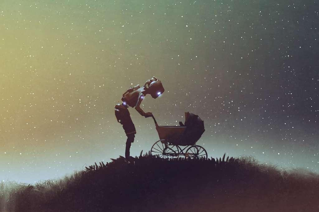 D'abord peu perfectionnés, les robots comme Robbie sont des nurses. Ils gardent les enfants et font monter le capital sympathie des machines dans la société. © grandfailure, Fotolia