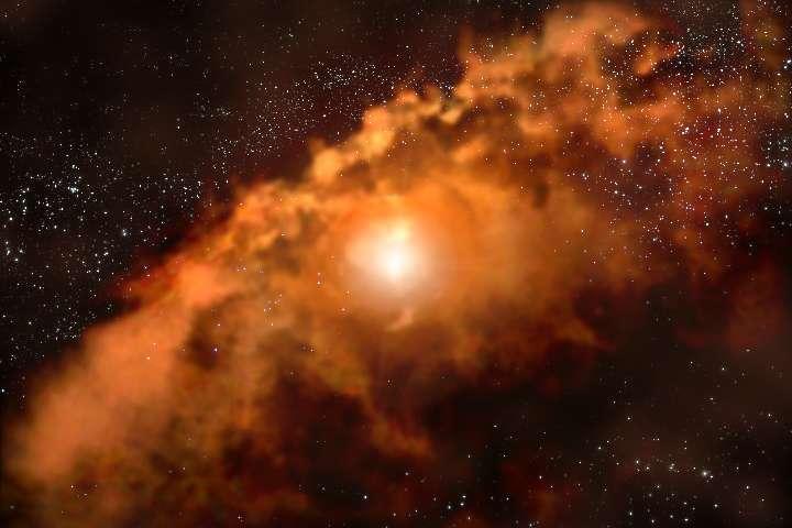 Éruption d'un trou noir supermassif 1/4