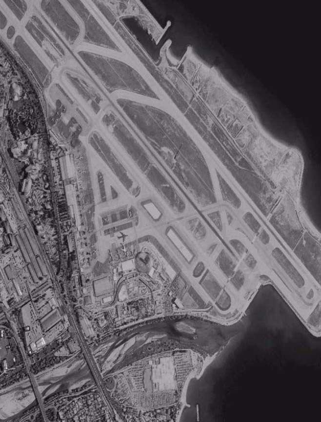 Image simulée de l'aéroport de Nice tel que l'observerait GO-3S. © Astrium