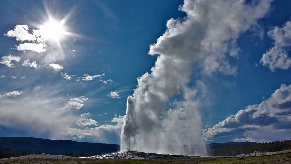 Le Old Faithful du parc national de Yellowstone