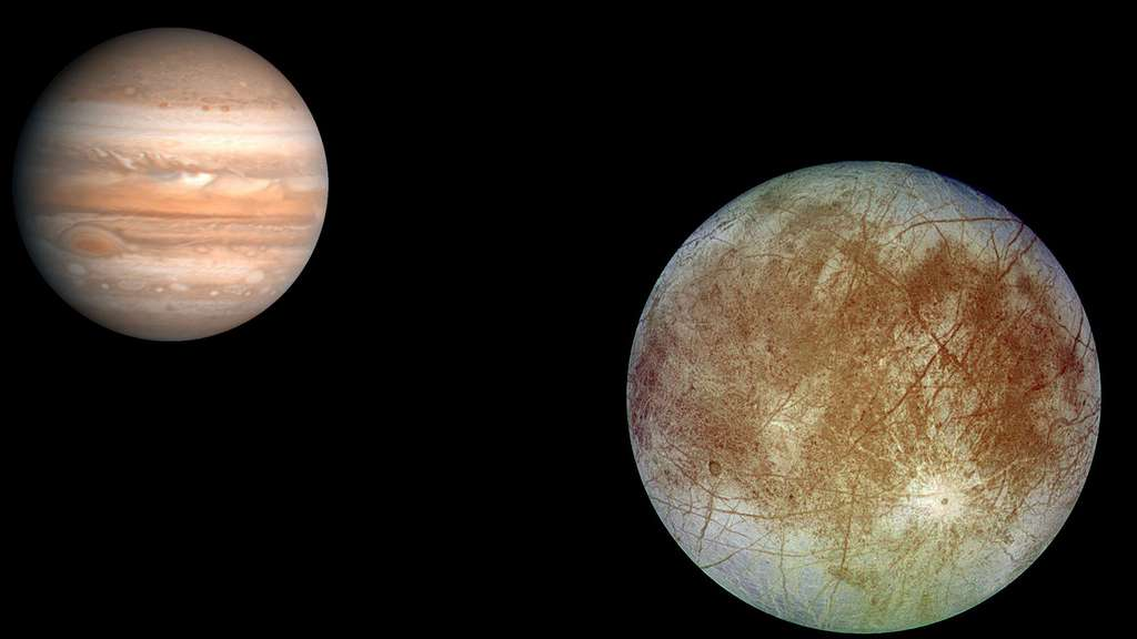 Jupiter et sa lune Europe