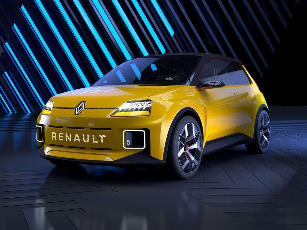 Le style de la Renault 5 électrique sera bien plus agressif que celui de son ainée. © Renault