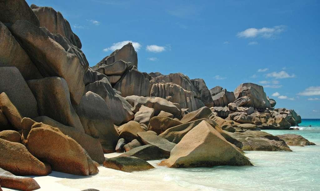 Rochers de Grand anse, sur l'île de La Digue