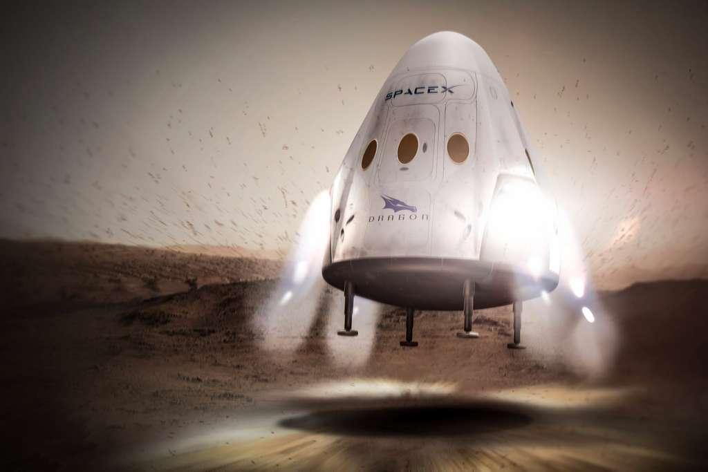 Pour poser sa capsule Red Dragon sur Mars, SpaceX devra faire différemment de ce qu'il prévoyait. © SpaceX