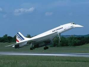Un Concorde d'Air France à l'atterrissage. © DR