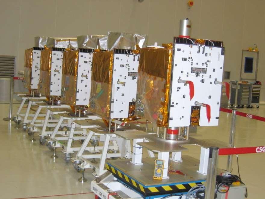 Mission franco-allemande de mesure du méthane atmosphérique, Merlin sera le premier satellite à utiliser la plateforme Myriade de nouvelle génération (à l'image, l'actuelle plateforme Myriade). © Cnes
