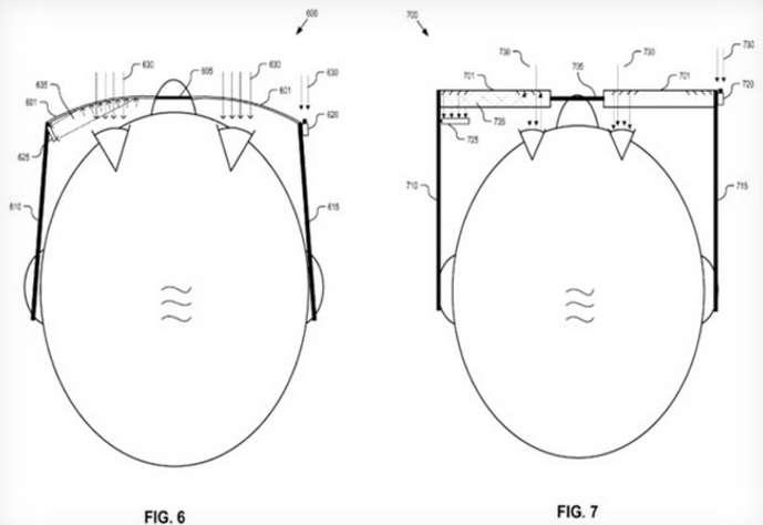 Monté sur des lunettes faisant penser aux Google Glass, le système de détection des mouvements des yeux enregistre les moments où le regard se fige sur une publicité. Il est également capable de détecter la réponse émotionnelle face à une publicité ou à un produit en analysant le niveau de dilatation de la pupille. Les données récupérées permettraient aux annonceurs d'optimiser leurs publicités visuelles. © Google, USPTO