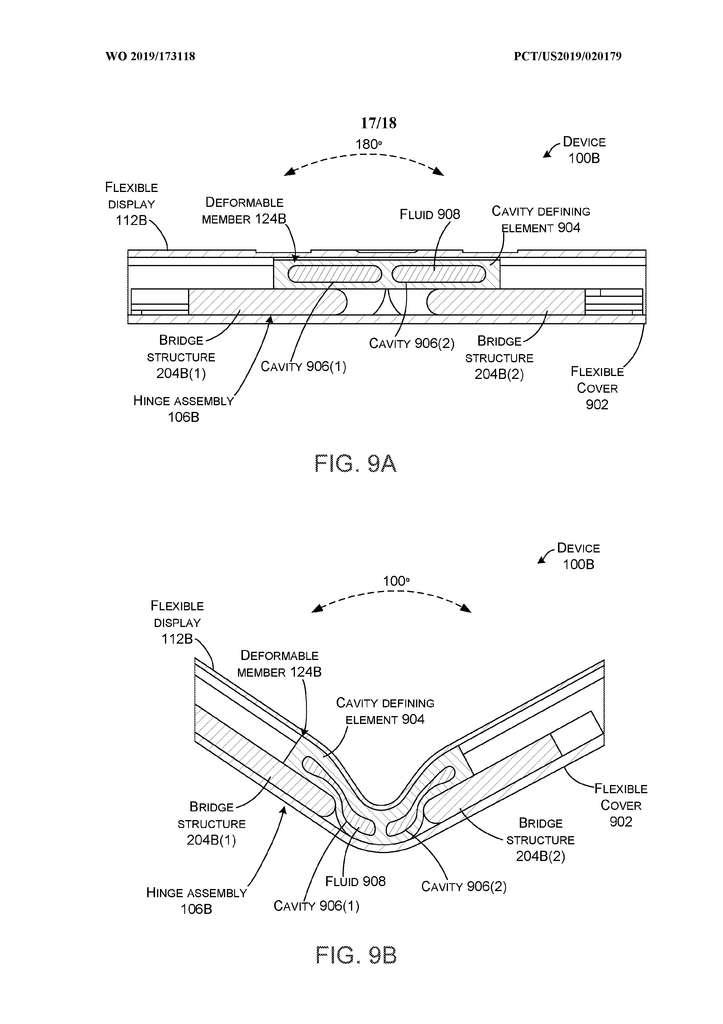À l'intérieur de la cavité, le fluide se déplace pour diminuer la pression exercée sur la dalle de l'écran. © Microsoft