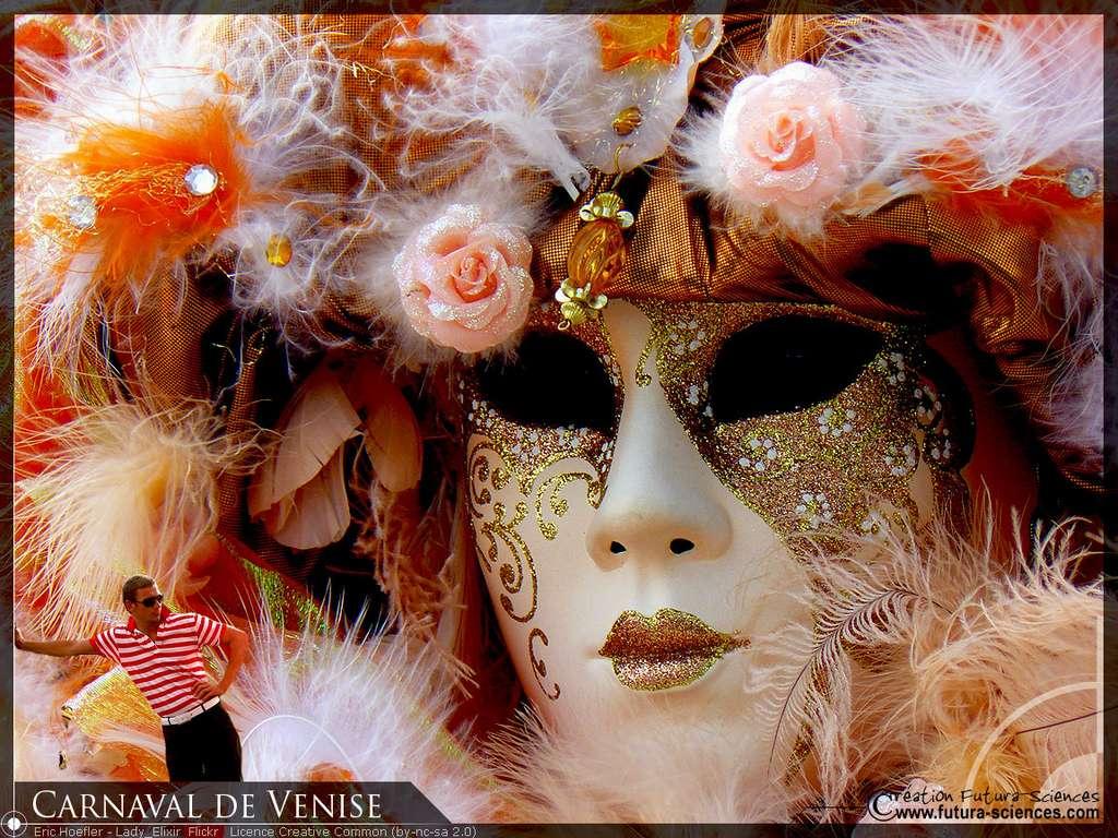 Carnaval de Venise, rose et or
