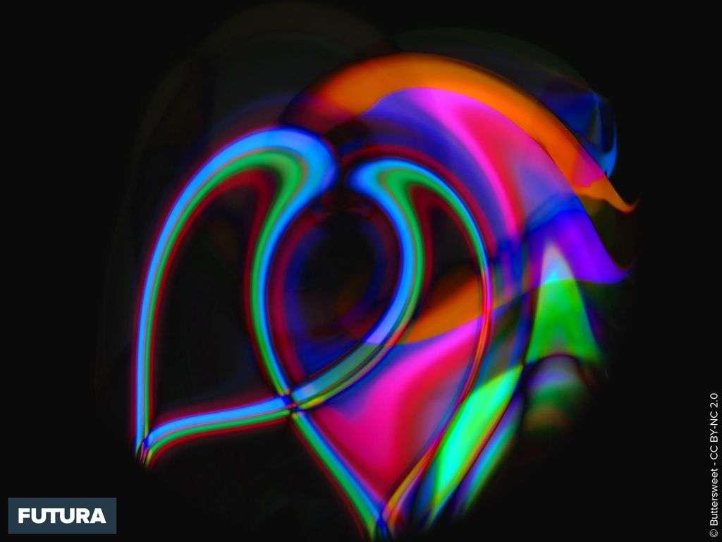 Coeur fluorescent