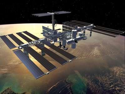 Vue d'artiste de la Station Spatiale Internationale (crédits : NASA)