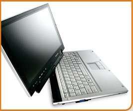 Avec sa connexion UMTS (ou HSDPA) intégrée, cet ultra-portable de Toshiba, le Portégé R400 peut se connecter à Internet n'importe où. À l'intérieur d'un local, il choisira lui-même la connexion Wi-Fi ou basculera à la demande sur une liaison fil classique. Détail raffiné : un discret écran d'une ligne, ajusté dans le clavier, indique les mails reçus et l'approche d'un rendez-vous. Attention, il est si fin qu'il est dépourvu de lecteur de CD/DVD et les prix annoncés sont élevés : 2 600 dollars (environ 2 000 euros) en version de base et 3 500 dollars (2 700 euros) pour le modèle recommandé par Toshiba. Crédit : Toshiba.