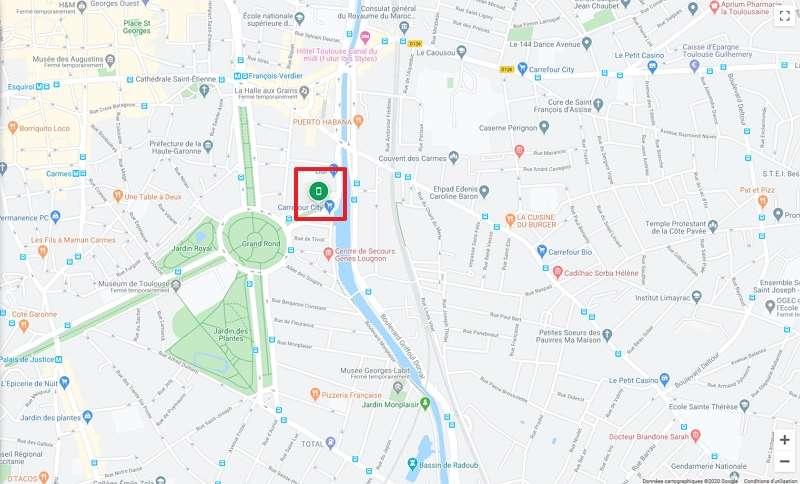 Repérez d'un coup d'œil où se trouve votre smartphone. © Google