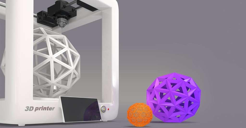 Formes géométriques reproduites en 3D. © Iaremenko Sergi, Shutterstock